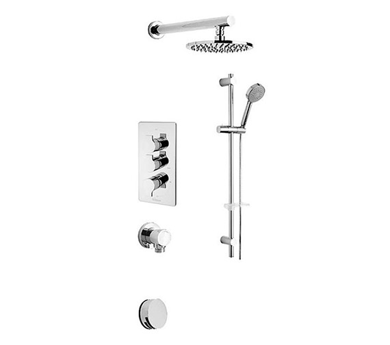 Tre Mercati Angle Concealed 3 Way Diverter Valve And Shower Set-22193A