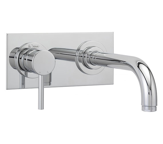 Tre Mercati Milan 2 Hole Wall Mounted Basin Mixer Tap Chrome - 63090