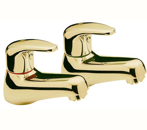 Tre Mercati Modena Pair Of Basin Tap Gold - 95210