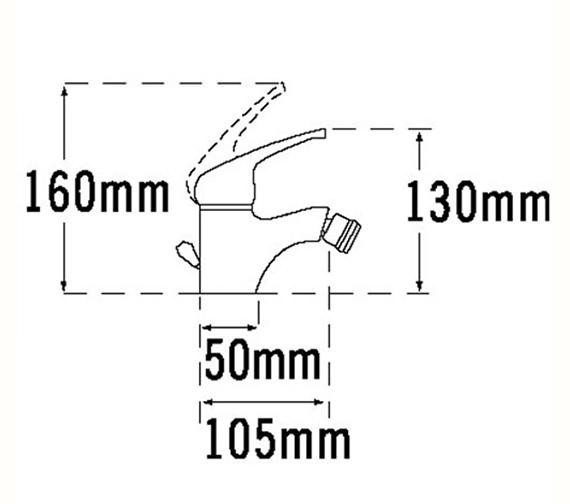 Technical drawing QS-V70640 / 95290