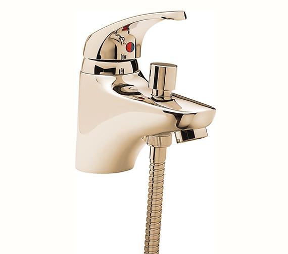 Tre Mercati Modena Mono Bath Shower Mixer Tap With Shower Kit Gold