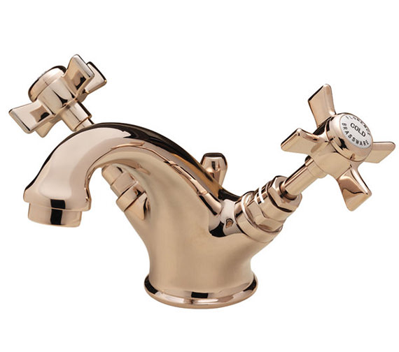 Tre Mercati Florence Mono Basin Mixer Tap With Pop Up Waste Gold