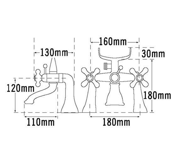 Technical drawing QS-V70661 / VICT25