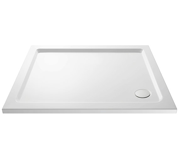 Nuie Premier Pearlstone Rectangular Shower Tray With Corner Waste