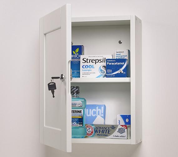 Roper Rhodes Medicab Lockable Single Door Wall Cabinet White 334mm - MED340