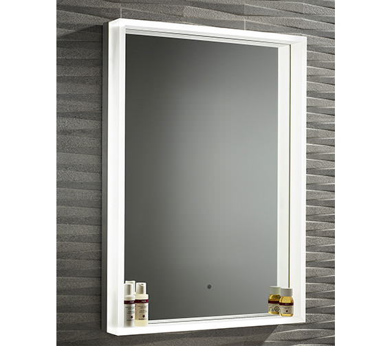 Roper Rhodes Aura Illuminated Framed Mirror 500 x 700mm Chrome - MLE450