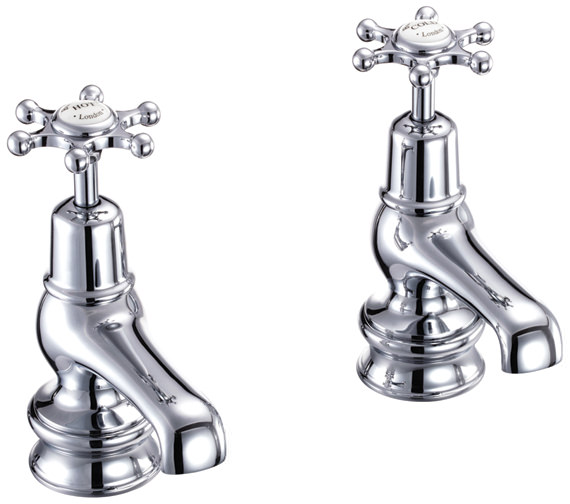 Burlington Birkenhead Regent 3 Inch Basin Taps Chrome Plated  - BIR1