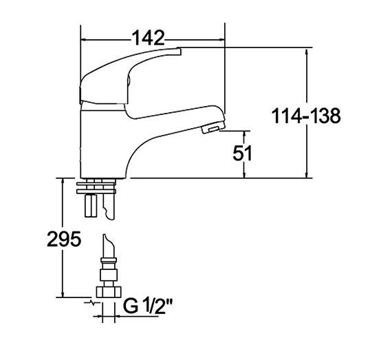Additional image of Deva Lace Mono Basin Mixer Tap