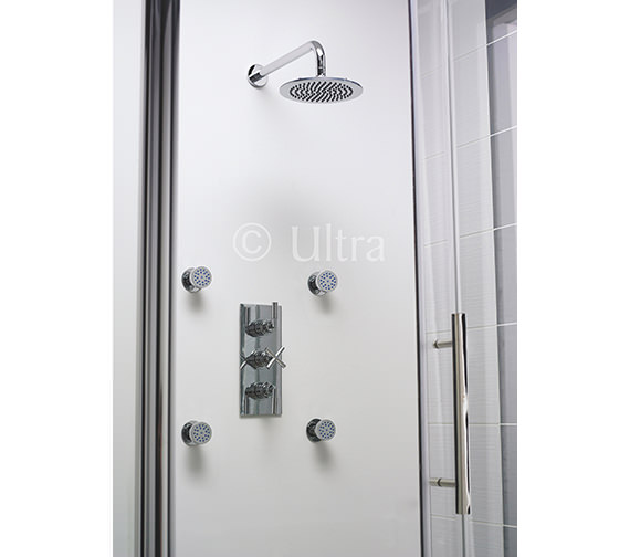 ultra helix triple concealed thermostatic shower valve. Black Bedroom Furniture Sets. Home Design Ideas