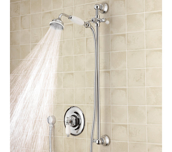 Nuie Premier Beaumont Sequential Thermostatic Shower Valve With Slide Rail Kit