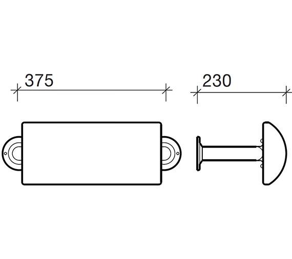 Technical drawing QS-V71781 / AV4912BE