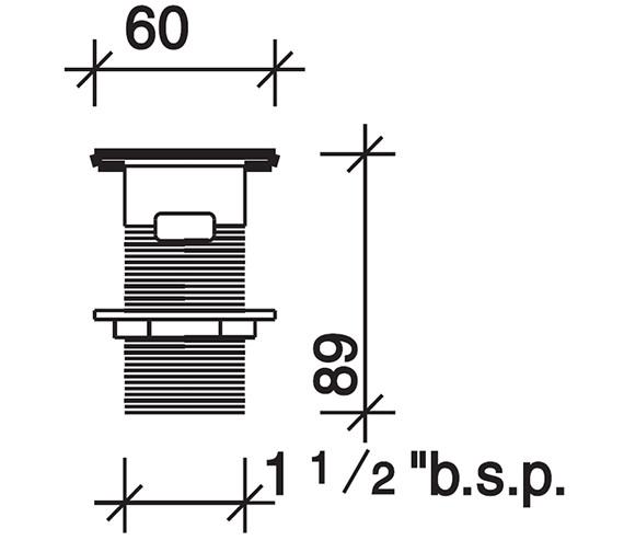 Technical drawing QS-V71797 / WF4333CP