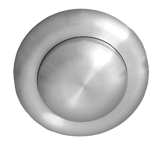 Twyford Stainless Steel Single Flush Small Air Button For 3-40mm Panel Depth