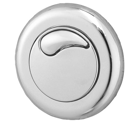 Twyford Dual Flush Small Air Button Chrome For 3-40mm Panel Depth