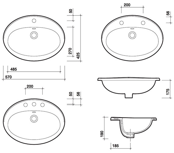 Technical drawing QS-V71851 / WB1761WH