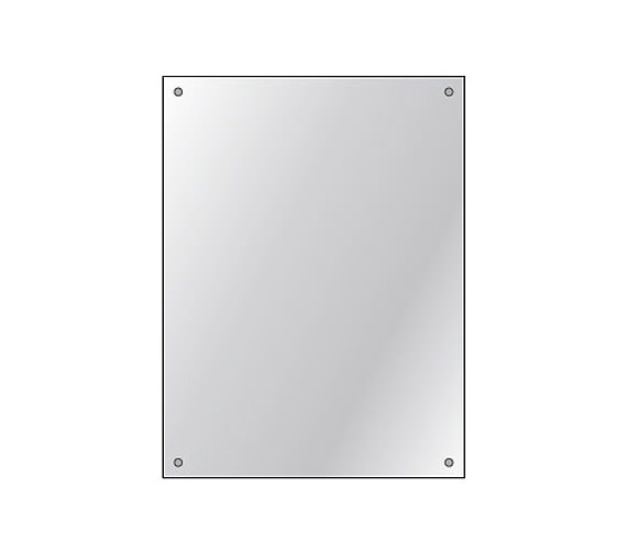 HIB Drilled Mirror 4mm Float Glass 450 x 600mm 6 Piece Set