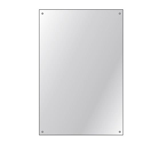 HIB Drilled Mirror 4mm Float Glass 600 x 900mm 3 Piece Set