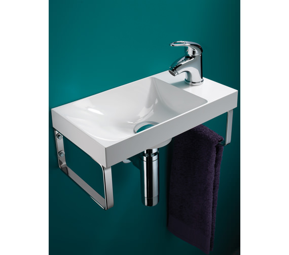HIB Solo Ocean Wall Hung Washbasin 400 x 220mm - 8780