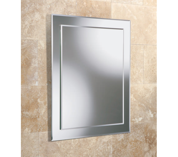 HIB Linus Rectangular Mirror On Mirror 500 x 700mm - 76700000