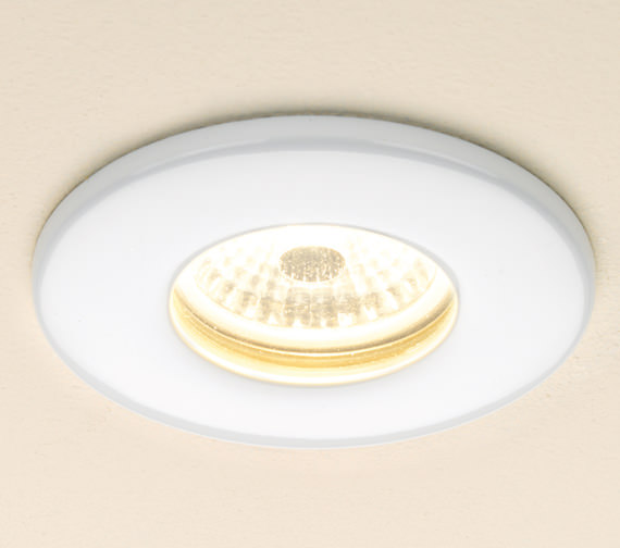 HIB Fire Rated Warm White LED White Showerlight - 5770