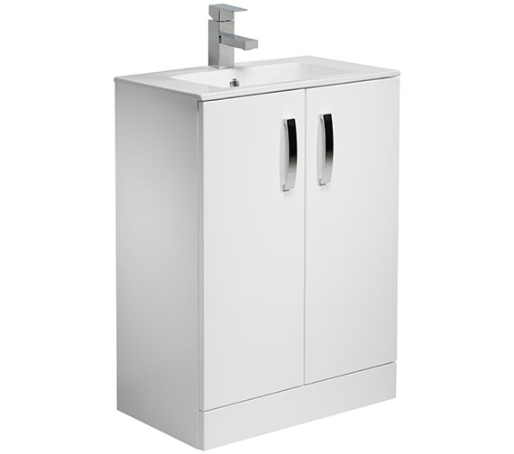 Tavistock Swift 600mm White Floorstanding Unit And Basin