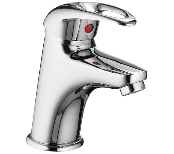 Additional image of Pura Dv8 Small Basin Mixer Tap With Clicker Waste