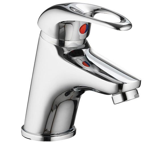 Pura Dv8 Small Basin Mixer Tap With Clicker Waste
