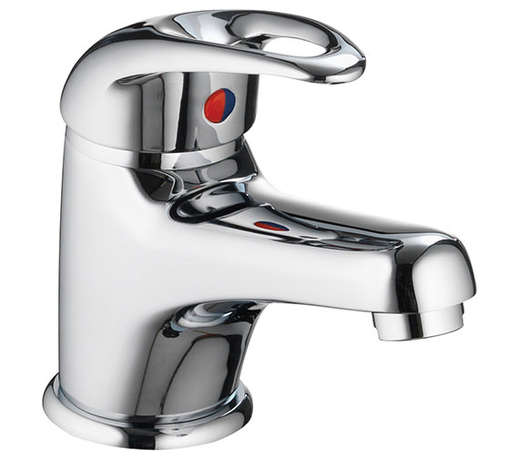 Pura Dv8 Eco Small Basin Mixer Tap With Clicker Waste - DVESBAS