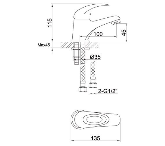 Technical drawing QS-V72118 / DVESBAS