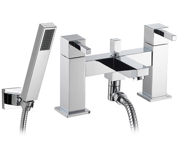 Pura Sq2 Bath-Shower Mixer Tap With Kit - SQBSM