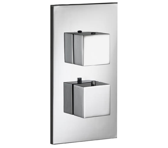 Pura Sq2 Single Outlet Dual Control Concealed Thermostatic Shower Valve