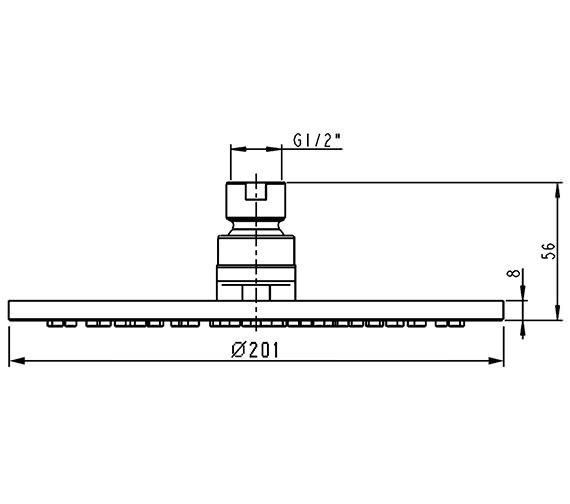 Technical drawing QS-V72142 / KI071