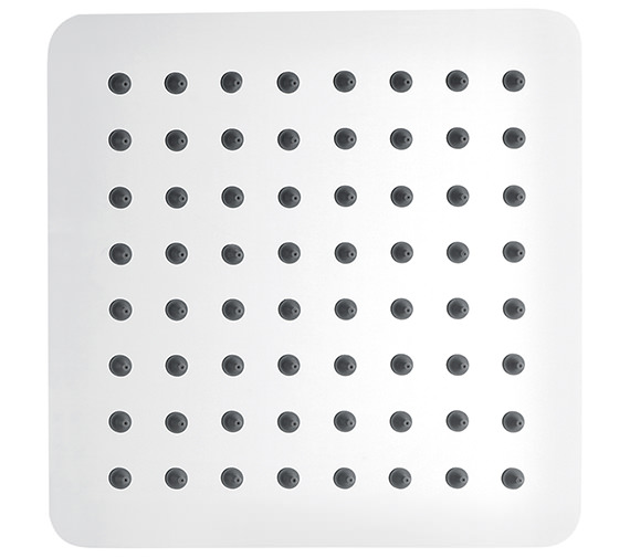 Pura Slimline Stainless Steel Square Shower Head 200mm - KI074