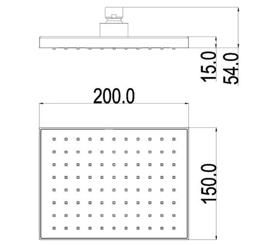 Technical drawing QS-V72159 / KI082