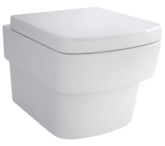 IMEX Bloque Wall Hung WC Bowl And Soft Close Seat 500mm
