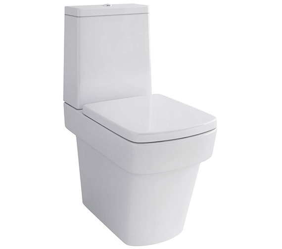 Pura Bloque Close Coupled WC Bowl With Cistern And Soft Close Seat 630mm