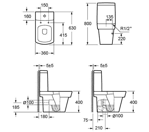 Technical drawing QS-V72182 / C1060