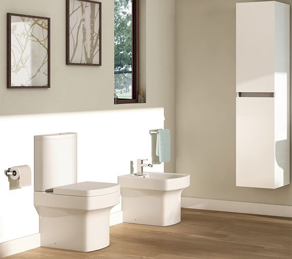 Additional image of Pura Dekka Close Coupled WC Bowl With Cistern And Soft Close Seat 610mm