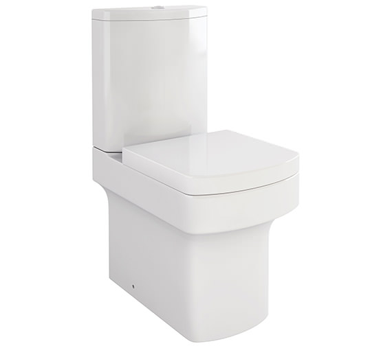 Pura Dekka Close Coupled WC Bowl With Cistern And Soft Close Seat 610mm