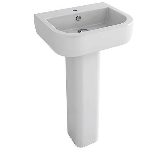 Pura Essence 560mm 1 Tap Hole Basin And Full Pedestal