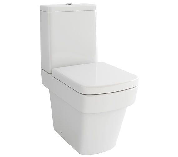 Pura Str8 Close Coupled WC Bowl With Cistern And Soft Close Seat 640mm