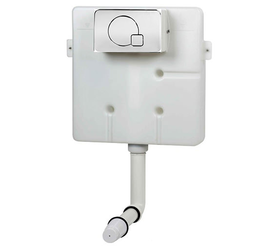 Pura Super Slim Concealed Insulated Cistern With Chrome Dual Flush Plate