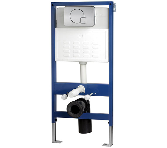 IMEX Wall Hung WC Frame System With Chrome Dual Flush Plate