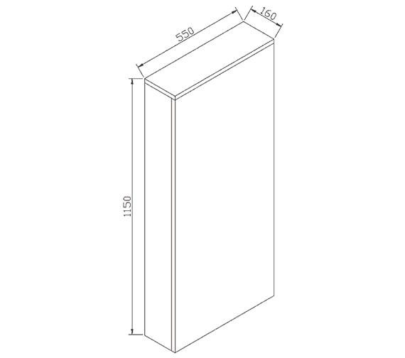 Technical drawing QS-V72213 / ECWCFCWG