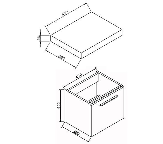 Technical drawing QS-V72216 / BQ55WMWG