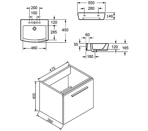 Technical drawing QS-V72219 / BQ55WMWG