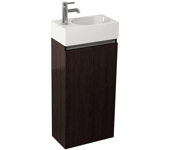 Additional image of Pura Echo 400mm White Gloss Single Door Floor Standing Unit And Basin