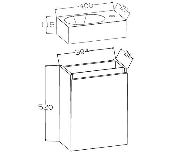 Technical drawing QS-V72225 / EC40WMWG