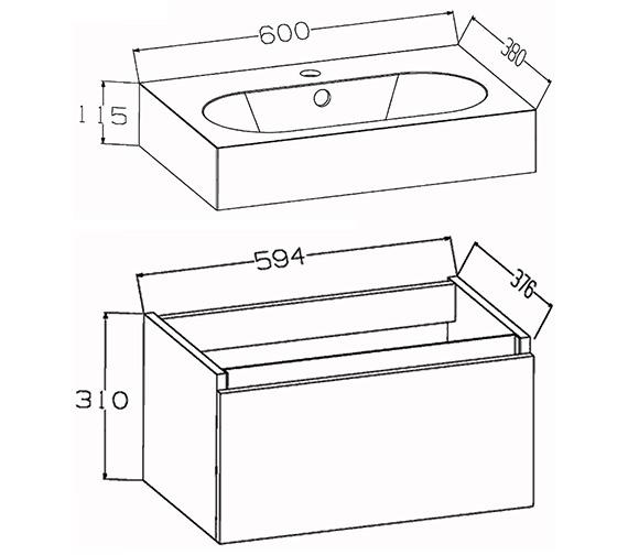 Technical drawing QS-V72231 / EC60WMWG