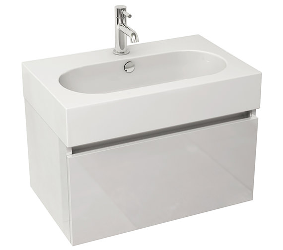 Pura Echo 600mm Single Drawer Wall Mounted Unit And Basin